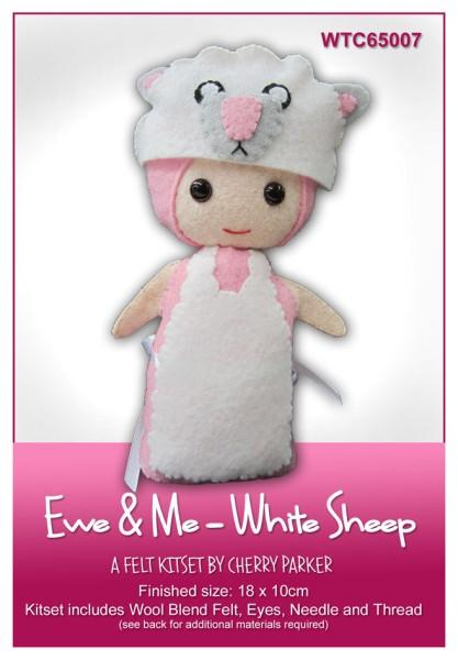 Ewe & Me White Sheep 18x10cm - [product-vendor] - Craftco Ltd - NZ