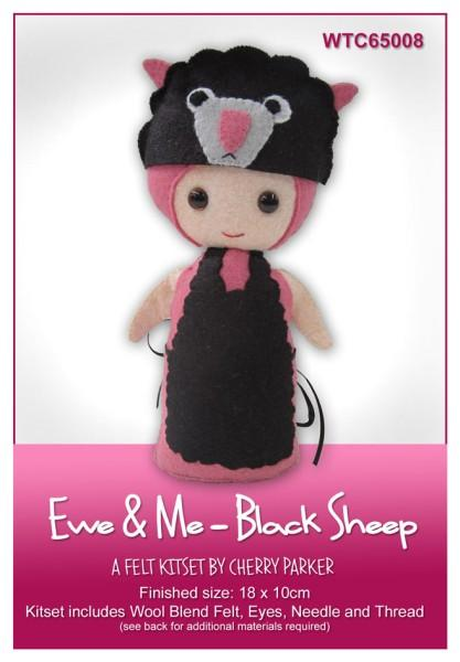 Ewe & Me Black Sheep 18x10cm - [product-vendor] - Craftco Ltd - NZ