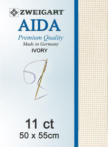 Aida Fat Quarter 11 Ivory - [product-vendor] - Craftco Ltd - NZ