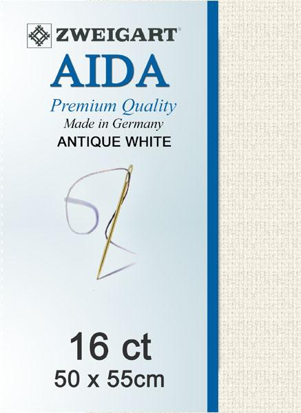 Aida Fat Quarter 16 Antique White - [product-vendor] - Craftco Ltd - NZ