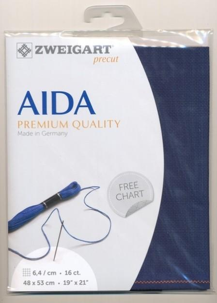 Aida Fat Quarter 16ct Navy - [product-vendor] - Craftco Ltd - NZ
