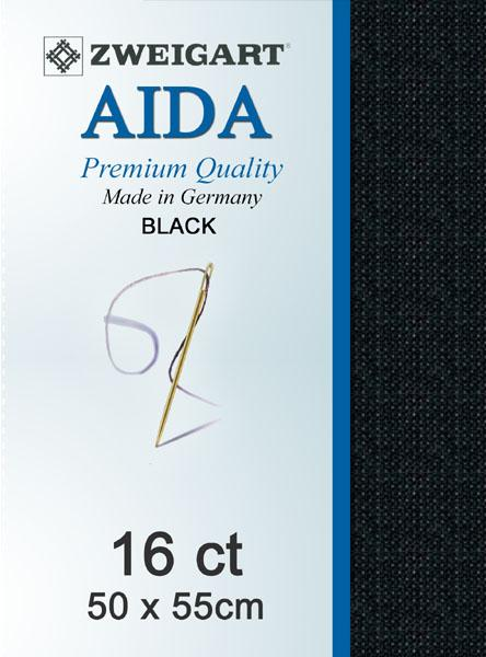 Aida Fat Quarter 16 Black - [product-vendor] - Craftco Ltd - NZ