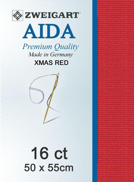 Aida Fat Quarter 16 Red - [product-vendor] - Craftco Ltd - NZ