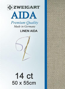 Linen Aida Fat Quarter 14 Raw Linen - [product-vendor] - Craftco Ltd - NZ