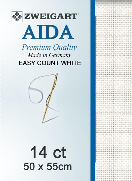 Easy Count Aida Fat Quarter 14 White - [product-vendor] - Craftco Ltd - NZ