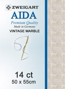Aida Fat Quarter 14 Vintage Sand - [product-vendor] - Craftco Ltd - NZ