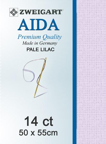 Aida Fat Quarter 14 Pale Lilac - [product-vendor] - Craftco Ltd - NZ