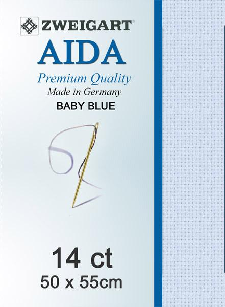 Aida Fat Quarter 14 Palest Blue - [product-vendor] - Craftco Ltd - NZ