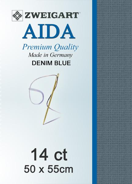 Aida Fat Quarter 14 Denim - [product-vendor] - Craftco Ltd - NZ
