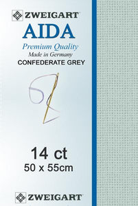 Aida Fat Quarter 14 Confederate Grey - [product-vendor] - Craftco Ltd - NZ