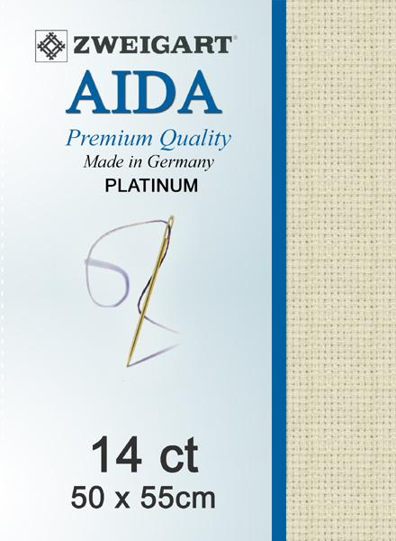 Aida Fat Quarter 14 Platinum - [product-vendor] - Craftco Ltd - NZ