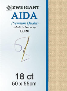 Aida Fat Quarter 18 Ecru - [product-vendor] - Craftco Ltd - NZ