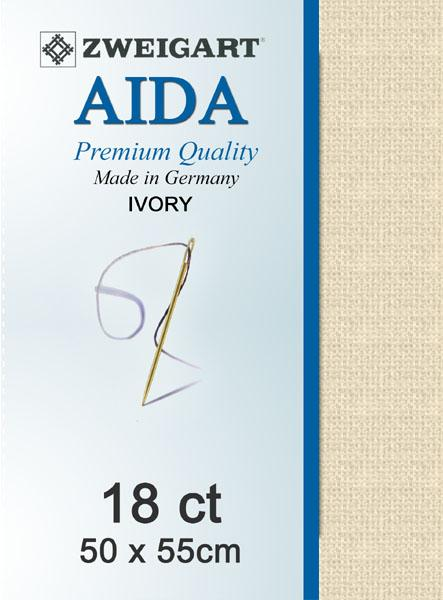 Aida Fat Quarter 18 Ivory - [product-vendor] - Craftco Ltd - NZ