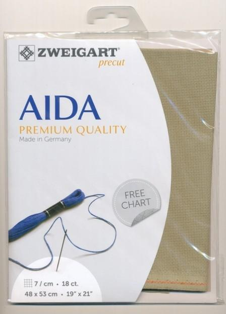 Aida Fat Quarter 18 Dirty Aida - [product-vendor] - Craftco Ltd - NZ