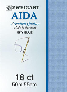 Aida Fat Quarter 18 Lt Blue - [product-vendor] - Craftco Ltd - NZ