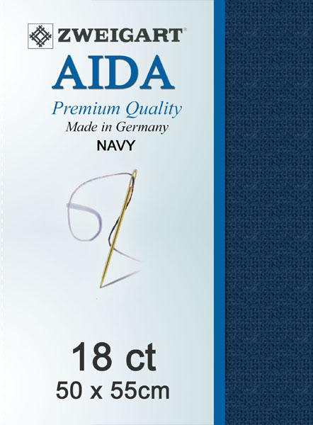 Aida Fat Quarter 18 Navy - [product-vendor] - Craftco Ltd - NZ