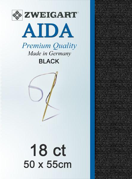Aida Fat Quarter 18 Black - [product-vendor] - Craftco Ltd - NZ