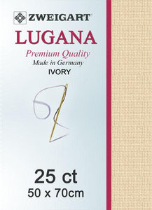 Lugana Fat Quarter 25 Ivory - [product-vendor] - Craftco Ltd - NZ