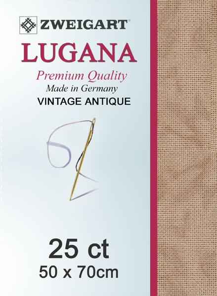 Lugana Fat Quarter 25 Vintage Mocha - [product-vendor] - Craftco Ltd - NZ