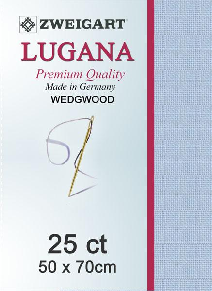 Lugana Fat Quarter 25 Light Blue - [product-vendor] - Craftco Ltd - NZ