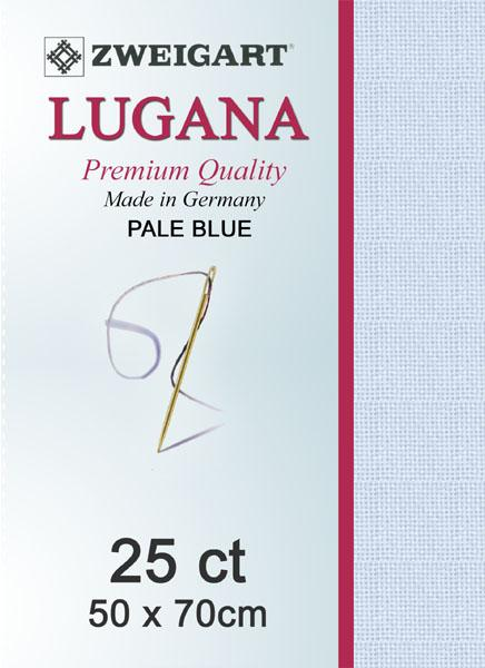 Lugana Fat Quarter 25 Ice Blue - [product-vendor] - Craftco Ltd - NZ