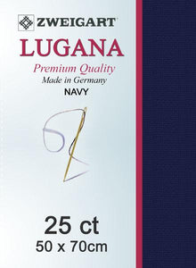 Lugana Fat Quarter 25 Navy - [product-vendor] - Craftco Ltd - NZ