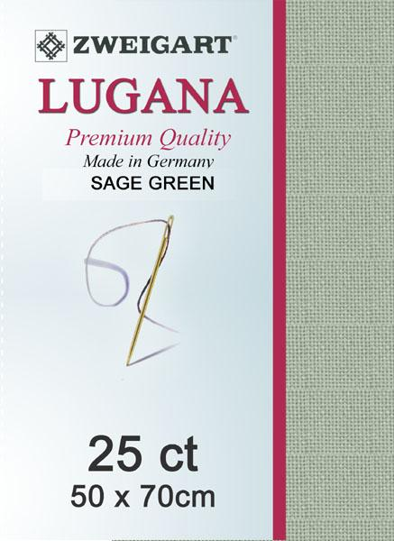 Lugana Fat Quarter 25 Sage Green - [product-vendor] - Craftco Ltd - NZ