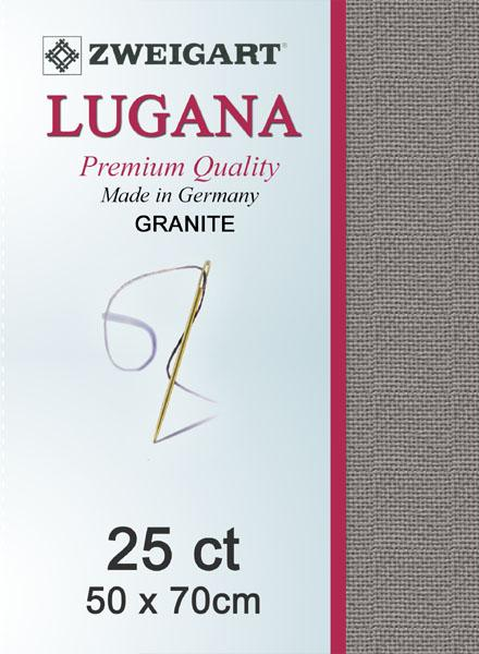 Lugana Fat Quarter 25 Slate - [product-vendor] - Craftco Ltd - NZ