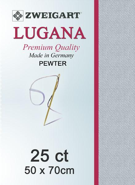 Lugana Fat Quarter 25 Pewter - [product-vendor] - Craftco Ltd - NZ