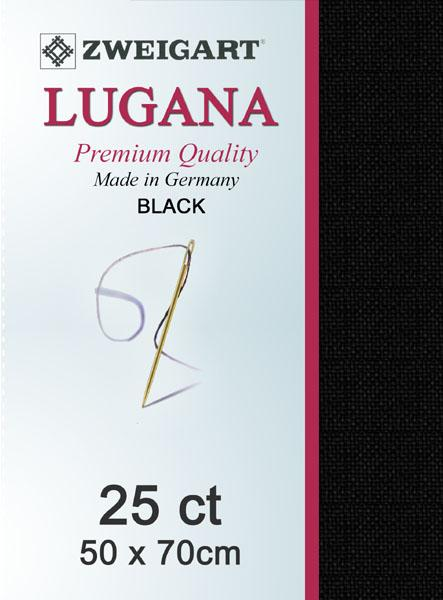 Lugana Fat Quarter 25 Black - [product-vendor] - Craftco Ltd - NZ