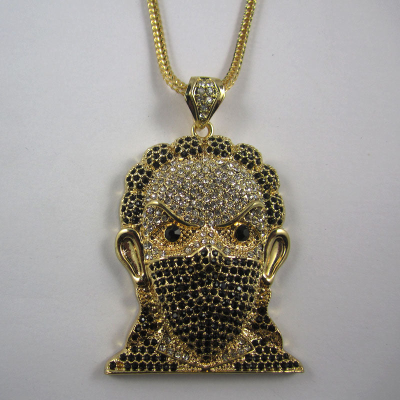Gangster head pendant necklace bling bank gangster head pendant necklace mozeypictures Choice Image