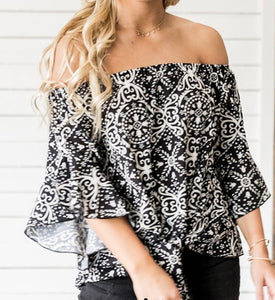 Black Medallion Top