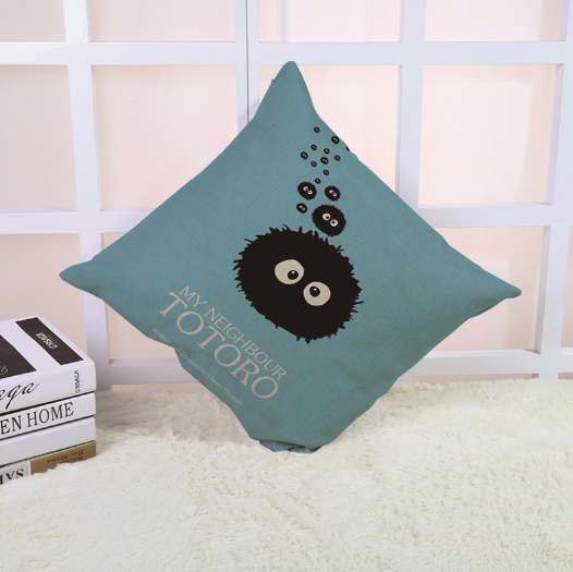 Black Fairy Dust Cushion Cover - Studio Ghibli Shop