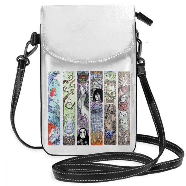 The Studio Ghibli Fam Leather Sling Bag
