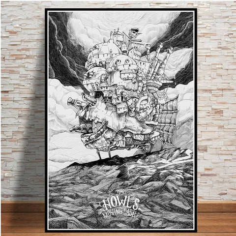 Howl's Moving Castle Japanese Movie Poster