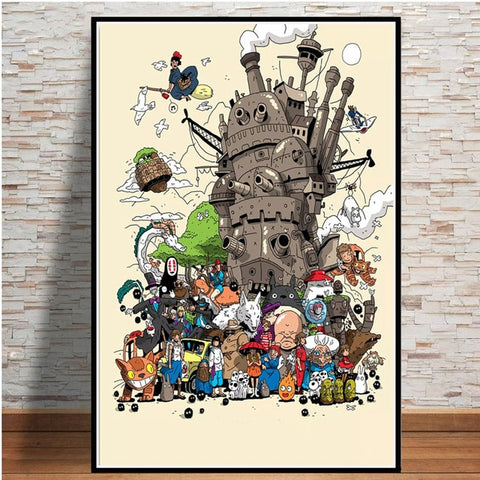Studio Ghibli Japanese Movie Poster
