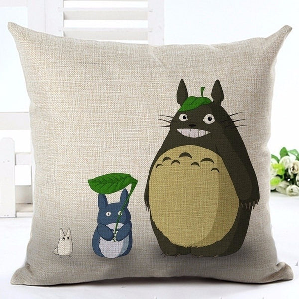 Totoro 'leaves' Cushion Cover - Studio Ghibli Shop