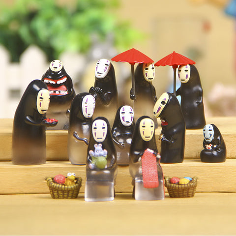 13pcs No Face Man Japanese Anime