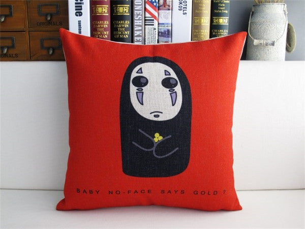 Scary No Face Cushion Cover - Studio Ghibli Shop