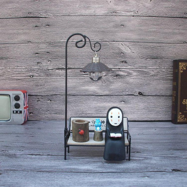 Bookworm No Face Night Light - Studio Ghibli Shop