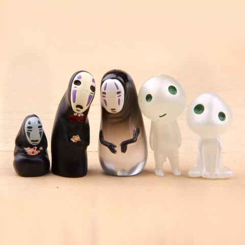 No Face and Kodama figure collection