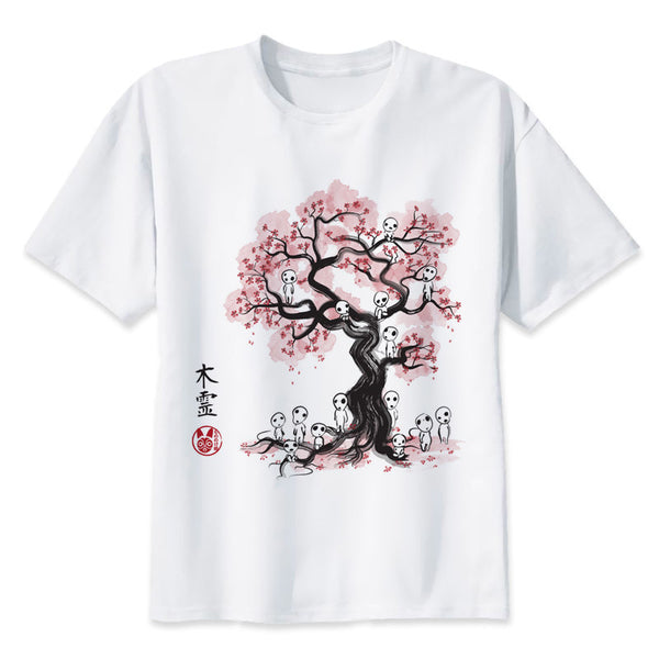 Japanese Blooming Tree T-shirt - Studio Ghibli Shop