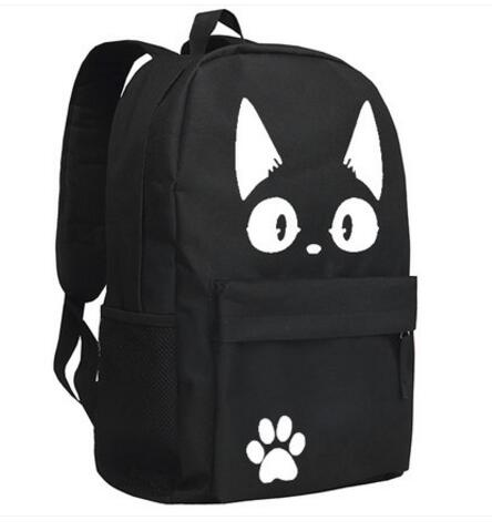 Black and White Jiji Backpack - Studio Ghibli Shop