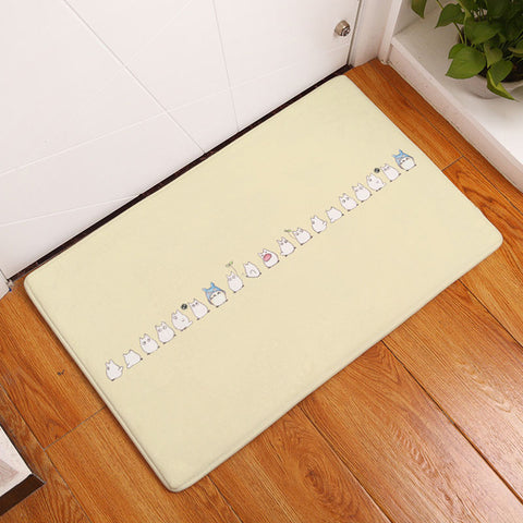Totoro Line Up Door Mat