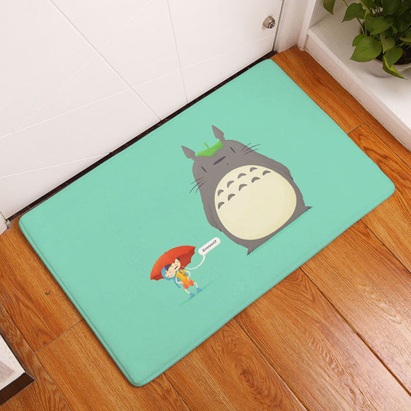 Blue Green Totoro and Mei Rug - Studio Ghibli Shop