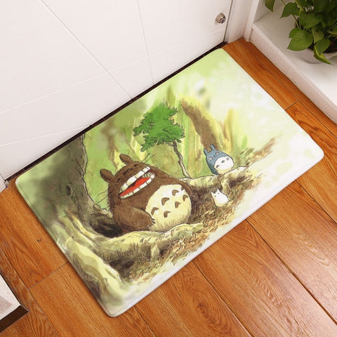 Totoro With A Smile Door Mat