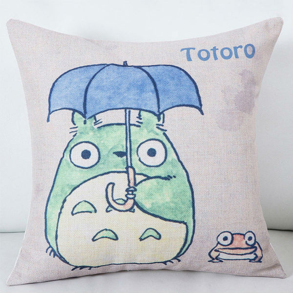 Big Eyes Totoro Cushion Cover - Studio Ghibli Shop