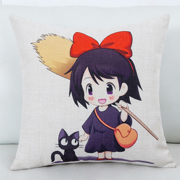 Jiji and Kiki Cushion Cover - Studio Ghibli Shop
