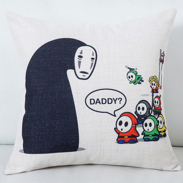 Daddy No Face Cushion Cover - Studio Ghibli Shop