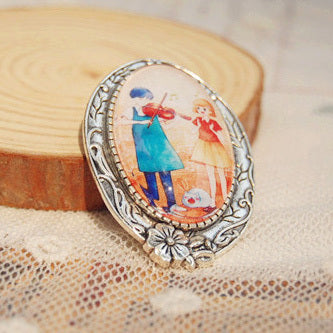 Playing Violin Pin - Studio Ghibli Shop